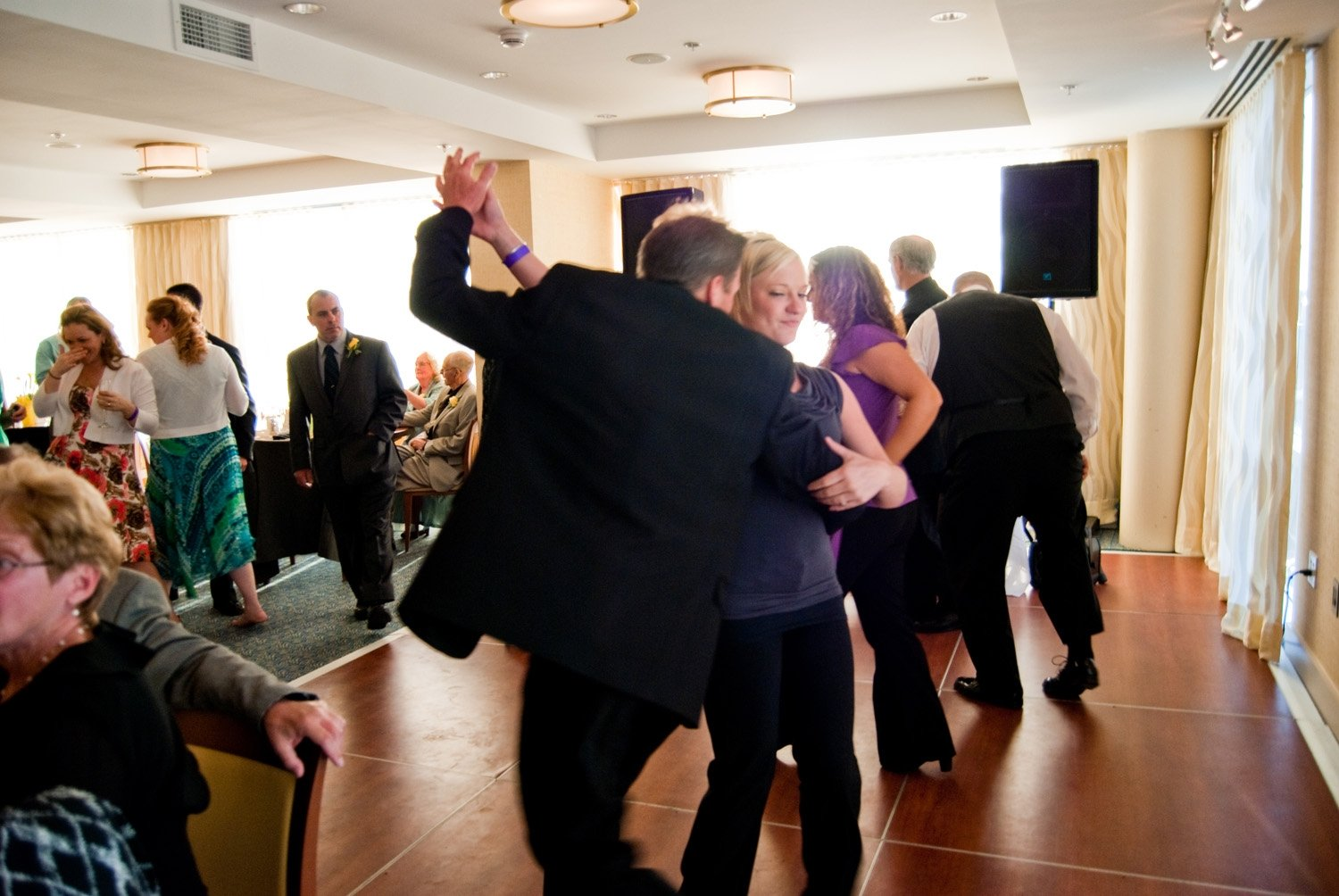 people dancing at wedding